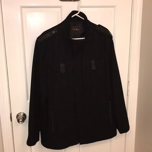 Men's Cole Haan black wool jacket